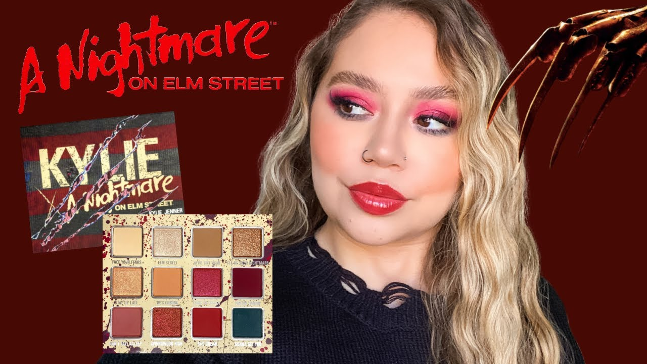 KYLIE COSMETICS X NIGHTMARE ON ELM ST | SWATCHES, REVIEW + TUTORIAL | Makeupbytreenz